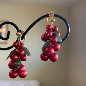 Vintage Lingonberry Satin Red Gold Romeo & Juliet